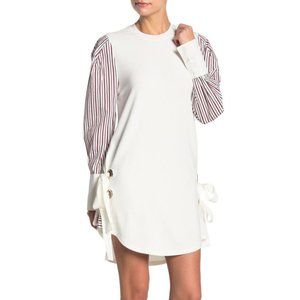 TOV Striped Sleeve Shift Dress